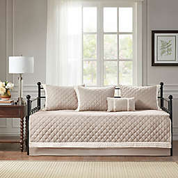 Madison Park Breanna 6-Piece Cotton Daybed Cover Set in Khaki