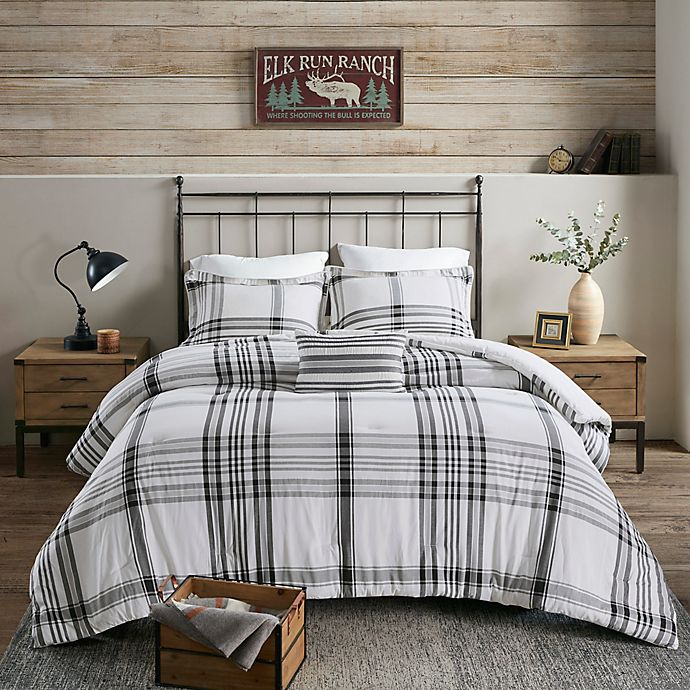 Alternate image 1 for Woolrich Hawkeye Cotton Yarn Dyed Comforter Set