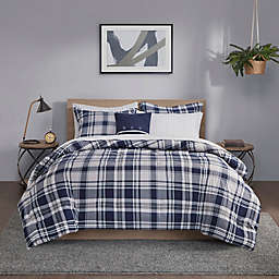 Madison Park Essentials Patrick 8-Piece Reversible King Complete Bedding Set in Navy