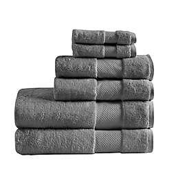MPS Turkish Cotton Bath Towels Charcoal (Set of 6)