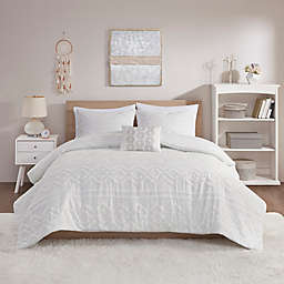 Intelligent Design Annie 3-Piece Clipped Twin/Twin XL Comforter Set in Ivory