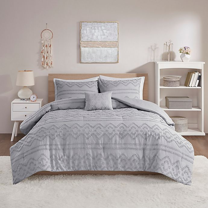 Alternate image 1 for Intelligent Design Annie Clipped Comforter Set