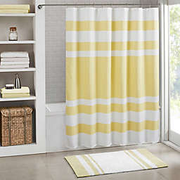Madison Park Spa Waffle Shower Curtain with 3M Treatment in Yellow