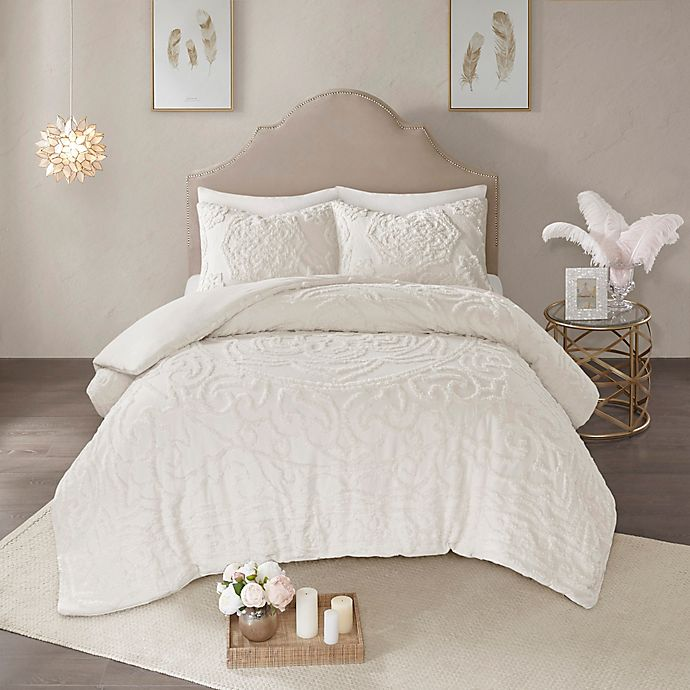 Alternate image 1 for Madison Park Laetitia Tufted Chenille 2-Piece Twin/Twin XL Duvet Cover Set