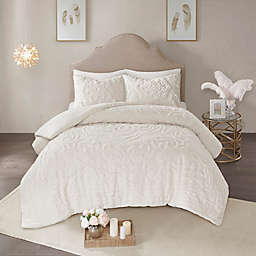 Madison Park Laetitia Tufted Chenille 2-Piece Twin/Twin XL Duvet Cover Set