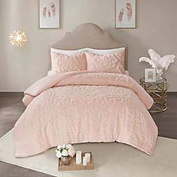 Madison Park Laetitia Tufted Chenille 2-Piece Twin/Twin XL Duvet Cover Set in Blush