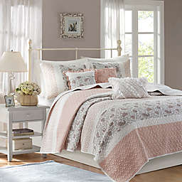 Madison Park® Dawn 6-Piece Full/Queen Coverlet Set in Blush