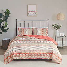 Madison Park Beatrix 3-Piece Cotton Reversible Full/Queen Coverlet Set in Multi