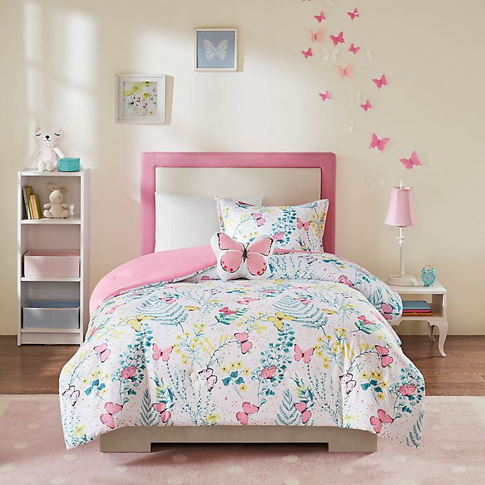 Alternate image 1 for Mi Zone Kids Cynthia Printed Butterfly Comforter Set