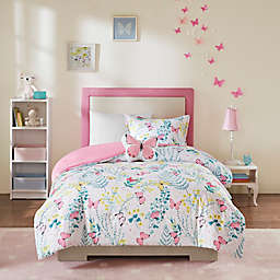 Mi Zone Kids Cynthia 3-Piece Printed Butterfly Twin Comforter Set in Pink