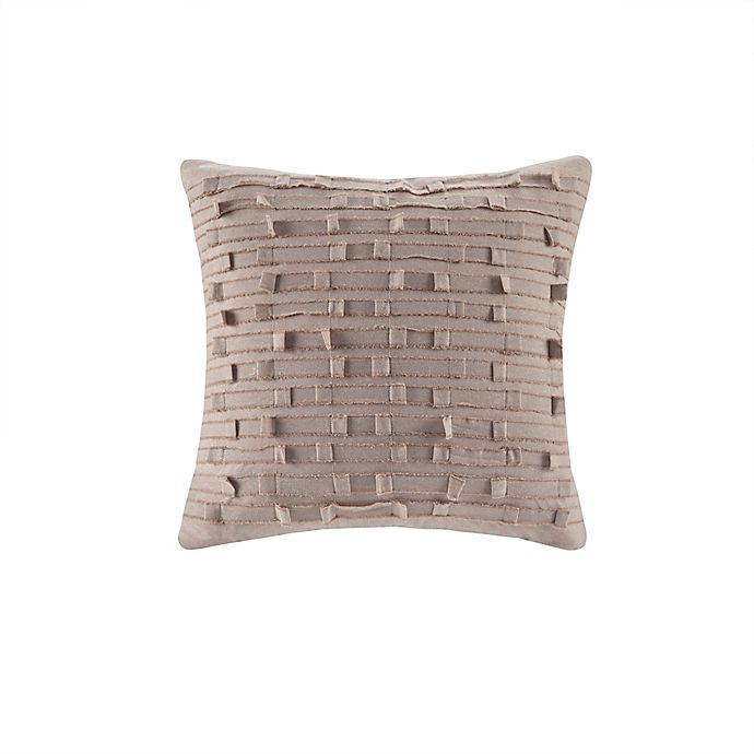 Alternate image 1 for INK+IVY Kerala Square Throw Pillow in Taupe