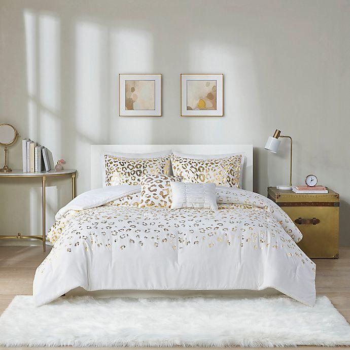 Alternate image 1 for Intelligent Design Lillie Comforter Set in Ivory/Gold