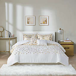 Intelligent Design Lillie 4-Piece Twin/Twin XL Duvet Cover Set in Ivory/Gold