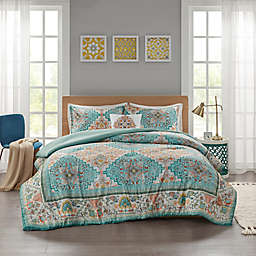 Intelligent Design Deliah 3-Piece Reversible Twin/Twin XL Comforter Set in Teal