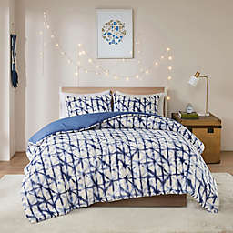 Intelligent Design Rae Berber Printed Duvet Cover Set in Blue