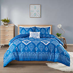 Intelligent Design Giselle 3-Piece Twin/Twin XL Comforter Set in Blue