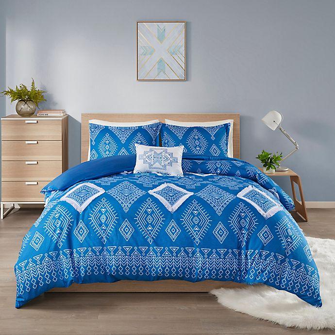Alternate image 1 for Intelligent Design Giselle Duvet Cover Set in Blue