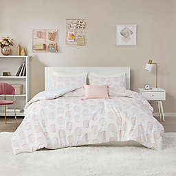Intelligent Design Jennifer Clipped Jacquard Comforter Set in Blush