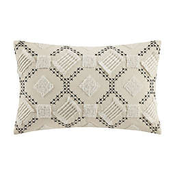 INK+IVY™ Chaaya Embroidered Oblong Throw Pillow in Beige