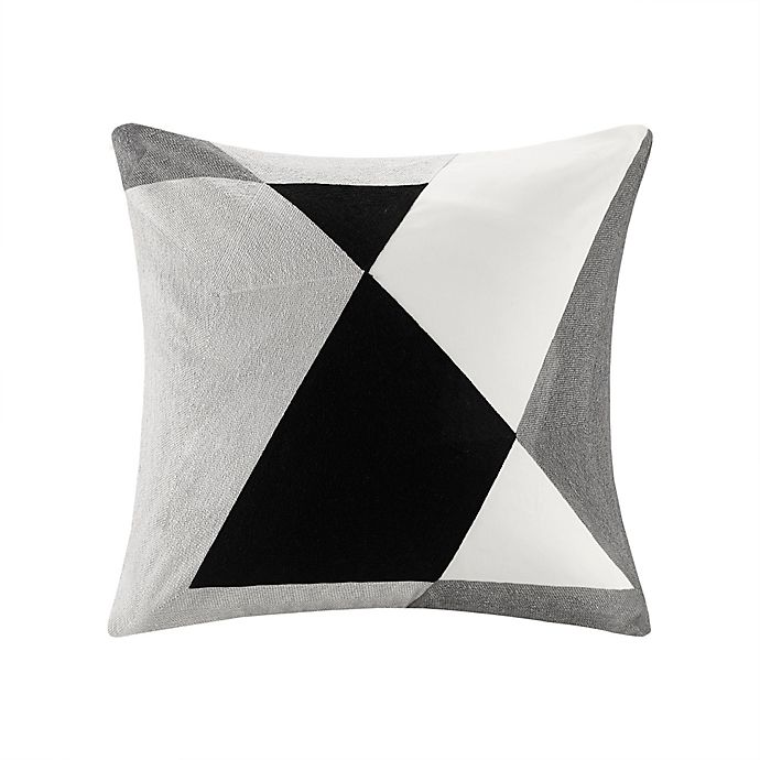 Alternate image 1 for INK+IVY™ Aero Abstract Embroidered Square Throw Pillow