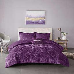 Intelligent Design Felicia 4-Piece King/California King Comforter Set in Purple