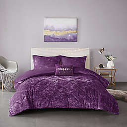 Intelligent Design Felicia 4-Piece Full/Queen Duvet Cover Set in Purple