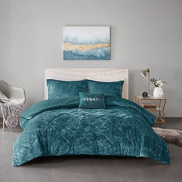 Alternate image 1 for Intelligent Design Felicia 4-Piece Full/Queen Comforter Set in Teal
