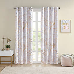 Intelligent Design Rebecca 84-Inch Grommet 100% Blackout Window Curtain Panel in Blush/Gold