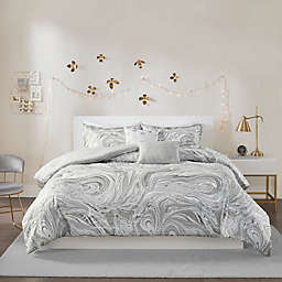Intelligent Design Rebecca Metallic 5-Piece Comforter Set in Grey/Silver