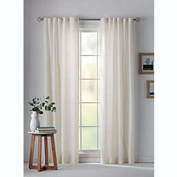 Bee & Willow™ Eyelet Stripe Sheer Rod Pocket/Back Tab Window Curtain Panel (Single)