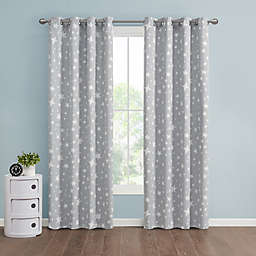 Marmalade™ Twinkle Grommet 100% Blackout Window Curtain Panel in Grey