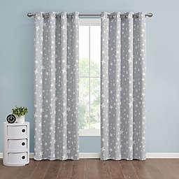 Marmalade™ Twinkle Grommet 100% Blackout Window Curtain Panel in Grey (Single)
