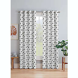 Marmalade™ Sutton 95-Inch Grommet 100% Blackout Window Curtain Panel in Black/White