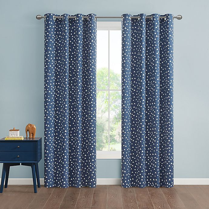 Alternate image 1 for Marmalade™ Issa Grommet 100% Blackout Window Curtain Panel in Navy (Single)