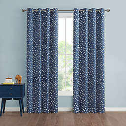 Marmalade™ Issa 63-Inch Grommet 100% Blackout Window Curtain Panel in Navy