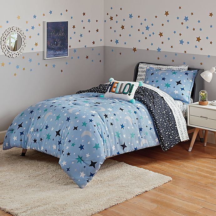 Alternate image 1 for Marmalade™ Ashton 7-Piece Reversible Comforter Set in Blue