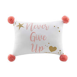 Marmalade™ Never Give Up Oblong Throw Pillow
