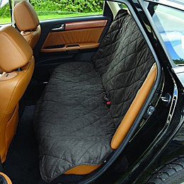 Soft Suede and Sherpa Reversible Auto Bench Seat Pet Cover