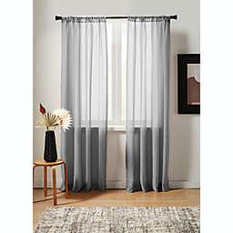 Studio 3B™ Nelis Linen Blend 108-Inch Sheer Rod Pocket Window Panel in Grey (Single)