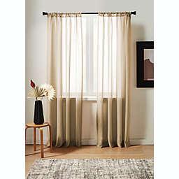 Studio 3B™ Nelis Linen Blend Sheer Rod Pocket Window Panel