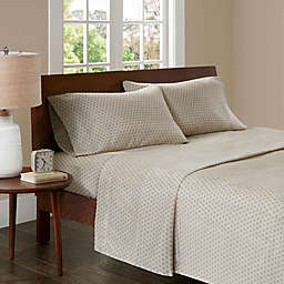 Madison Park 3M Microcell Printed Twin Sheet Set in Tan