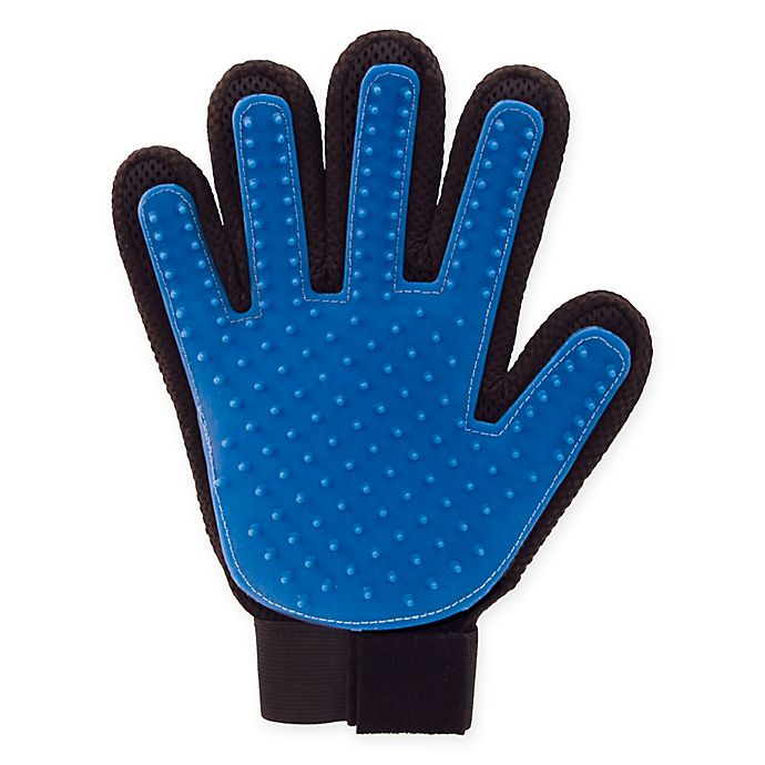 Alternate image 1 for As Seen On Tv True Touch Deshedding Glove in Black/Blue