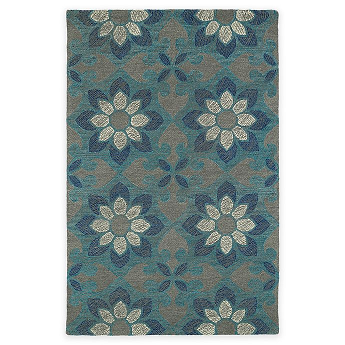 Alternate image 1 for Kaleen Montage Floral 3-Foot 6-Inch x 5-Foot 6-Inch Area Rug in Grey