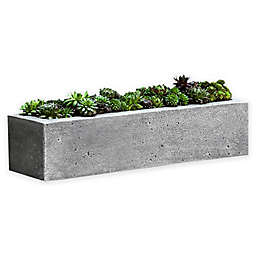 Campania Basic Element Long Planter in Alpine Stone