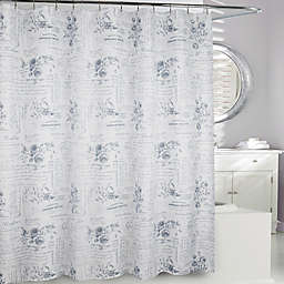 Moda At Home Enchanted Fabric Shower Curtain In Grey