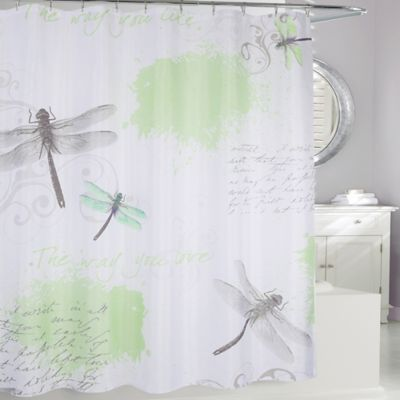 Dragonfly Fabric Shower Curtain Bed Bath Beyond