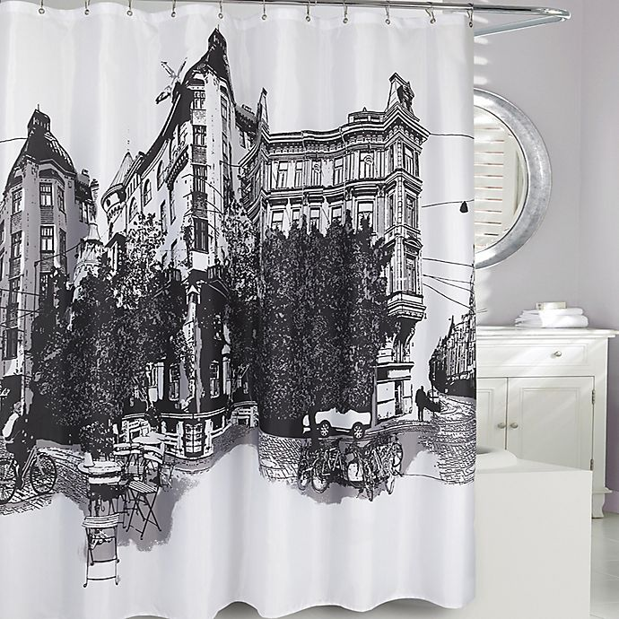 Alternate image 1 for Paris Fabric Shower Curtain