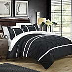 Chic Home Nica 7-Piece King Duvet Cover Set in Black
