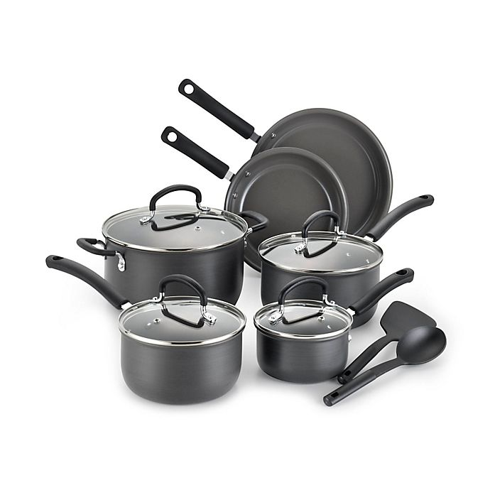 Alternate image 1 for T-Fal® Precision Ceramic Hard Anodized 12-Piece Cookware Set