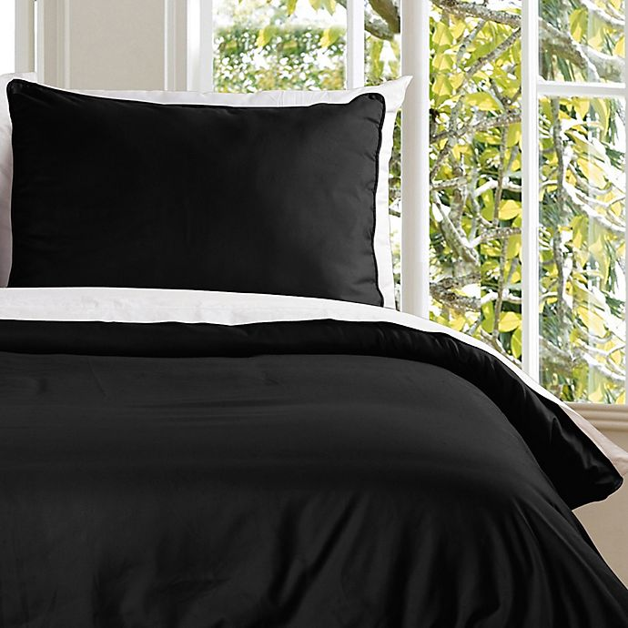 Alternate image 1 for Clean Living Water Resistant Twin Duvet Cover Set in Black